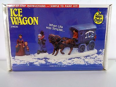 Vtg Wee Crafts Ice Wagon Paint Kit 21531 Christmas Village