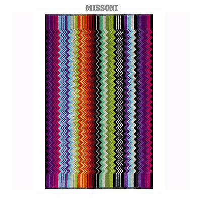 "Missoni Home - GIACOMO Color 159 Zig Zag Bath towel Multicolor Cotton 27""x45"""