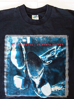 DIRE STRAITS On Every Street Tour Vintage T-Shirt Australia New Zealand 1991