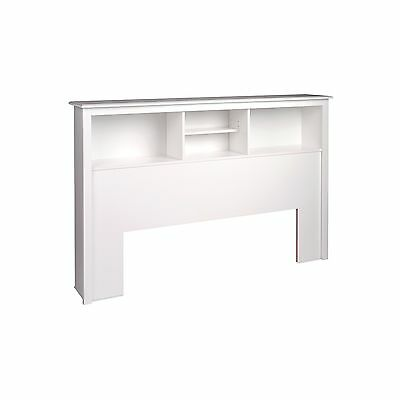 Prepac WSH-6643 Monterey Queen Storage Headboard (White)