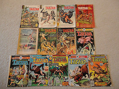 lot of 13 Tarzan comics (all from 1966-1978) old/used shape - see description