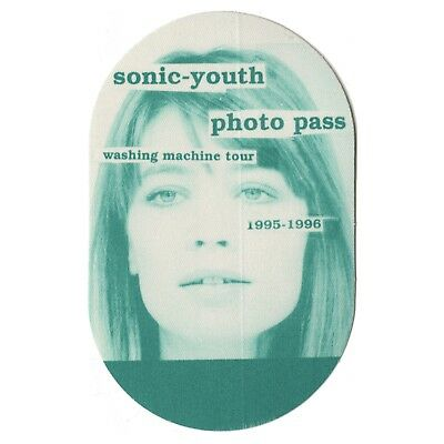 Sonic Youth authentic Photo 1995-1996 tour Backstage Pass