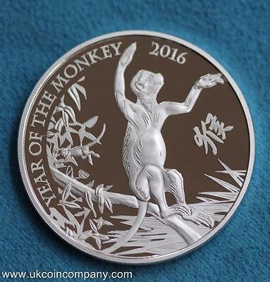 2016 Lunar Year Of The Monkey 1 oz Silver proof £2 Coin Royal Mint Boxed COA