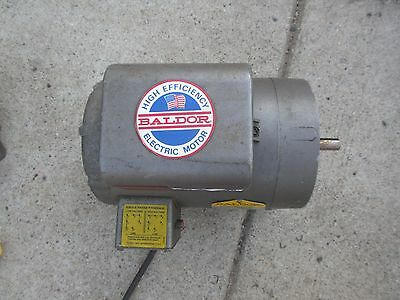 BALDOR PCL1319M ELECTRIC MOTOR 1.5 HP 115/230 1 Phase Reversible FR 56C 1725 RPM