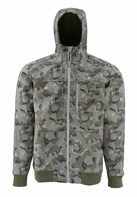 Simms ROGUE FLEECE Hoody ~ Geo Camo Loden NEW ~ Closeout Size Large