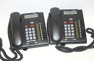 Lot of 2 Nortel Networks T7208 Business Phones Pulled From a Working System