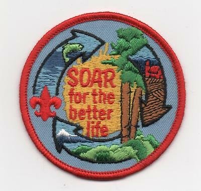 """Vintage """"SOAR for better life"""" Patch, 3"""" Round, Mint!"""