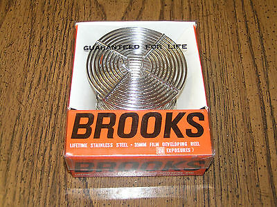 Brooks Stainless Steel 35mm Film Developing Reel Excellent Cond.