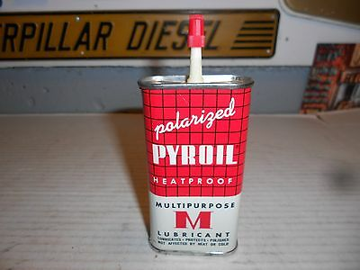 Vintage NOS PYROIL HOUSEHOLD OILER~Penetrating Lubricant Oil Can~New Old Stock!