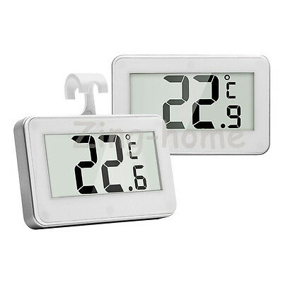 Digital LCD Fridge Freezer Refrigerator Thermometer Hang Hook Waterproof