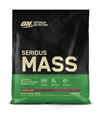 Optimum Nutrition SERIOUS MASS 12 lbs - All Flavors