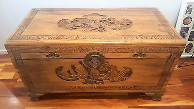 camphor wood chest