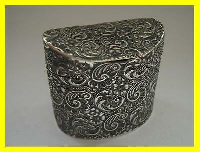 Dutch Silver Peppermint Box 1855? Fully Hallmarked To Base