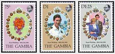Timbres Lady Diana Gambie 425/7 ** lot 20156
