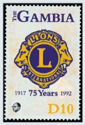 Timbre Lions Club International Gambie 1270 ** lot 20164