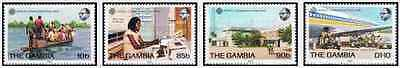 Timbres Communications Gambie 484/7 ** lot 20165