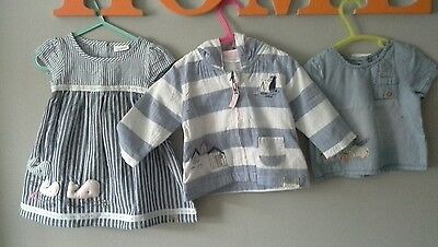 💟 **next**baby Girls Summer Dress/jacket/top  Bundle**3-6 Months**bnwt**