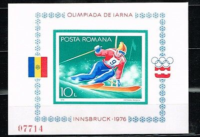 Romania.1976 Winter Olympics Game.Imperforated.MNH**