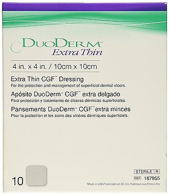 Duoderm Extra Thin CGF Dressing 10 X 10 cm / 4 X 4 in ( 10 Pack )
