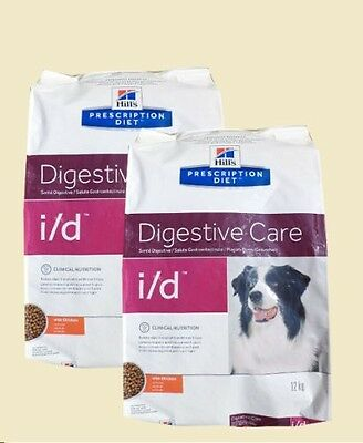 Hills Dog Food I/D Prescription Diet Digestive Care 12 kg x 2 packs = 24 kg