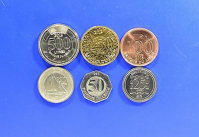 LEBANON 6 DIFFERENT COIN SET includes rare ship coin UNC livres BEST PRICE !!