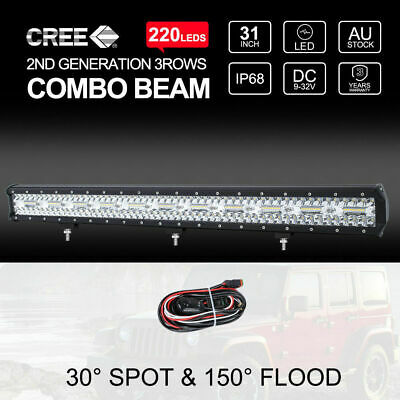 28 inch 630W Osram LED Light Bar Spot Flood Combo Offroad Work Driving Lamp