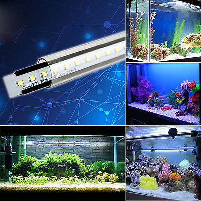 Aquarium Tube Lamp Fish Tank Waterproof Led Light Submersible Lighting Bar Decor
