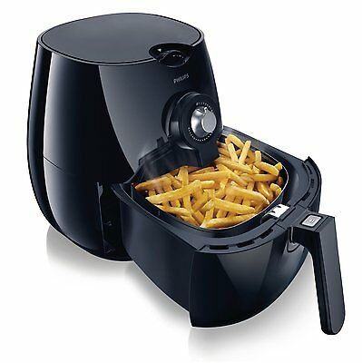 Philips HD9220 Low Fat Air Fryer Black Rapid Air Technology Healthy Cooker Chips