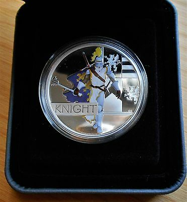 2010 1 oz Proof Silver Coin Knight Great Warriors Series W - All Mint Packaging