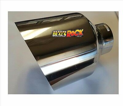 """Brand New Polished Stainless Diesel Exhaust Tip 4"""" IN 10"""" Out 15"""" Overall"""