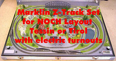 Marklin Z Track-Set Electric for NOCH Z Scale Layout Tessin 87080 or Tirol 87090