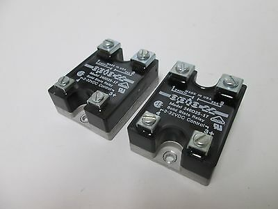 Lot of 2 Opto 22 240D25-17 Solid State Relays Control: 3-32VDC Contact: 240VAC