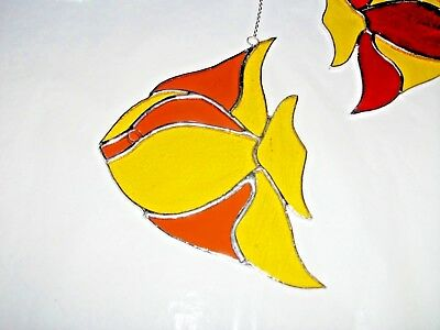 HANDMADE Stained Glass large fish sun-catcher