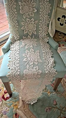 Lot of 11 Heritage Lace Doily Runner Ecru Victorian Cottage Rose Country Wedding