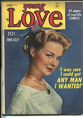 YOUNG LOVE #3 1949-PRIZE-PHOTO COVER-SIMON & KIRBY ART-vg