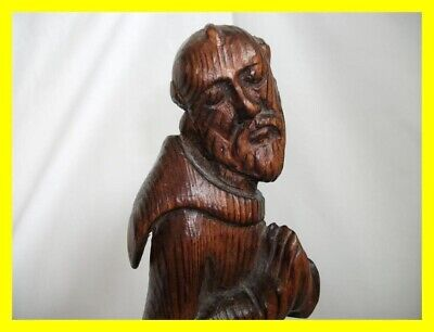 Large Carved Pitch Pine Religious Monk Figure 17Th/18Th Century,wonderful Patina