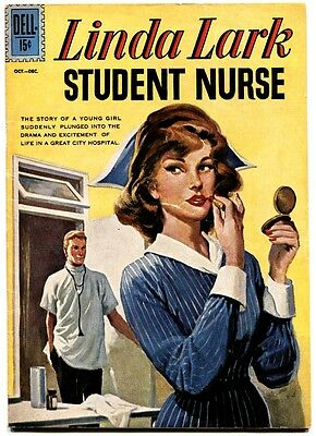 Linda Lark Student Nurse #1 1961-Dell-Rare First Issue-Fn+