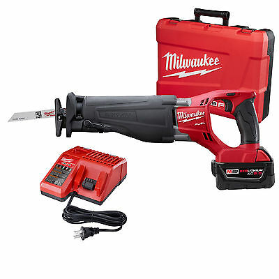 18V M18 FUEL SAWZALL Kit w/ 5.0 Batt,Charger,Case M18 Saw Milwaukee 2720-21 New
