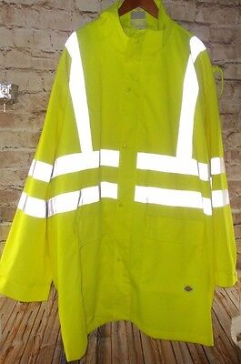 Dickies High Visibility Reflective Jacket Neon Yellow Gray Class 3 Size 5XL