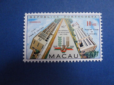 Lot 599 Timbres Stamp Revolution Nationale Macao - Macau Annee 1966
