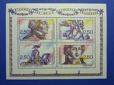 Lot 7217 Timbres Stamp Bloc Feuillet Revolution Francaise France Annee 1991