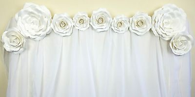 9pc Beautiful Giant 3D Paper Flower Wall Decoration,Birthday, Wedding