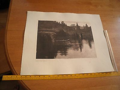 Edward S Curtis Photogravure 18x22.5 Tweedweave On Klickitat River Plate 389 a