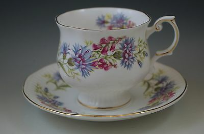 Vtg Rosina Queens Wild Flowers Cup And Saucer Set -Bone China