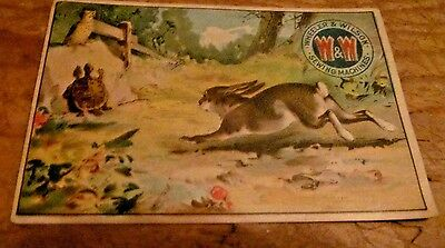 Wheeler & Wilson's  Sewing Machines - Trade Card - Hare and the Tortoise Bunny