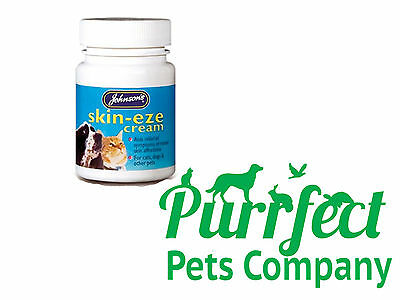 JOHNSONS SKIN-EZE CREAM DOGS CATS PETS - Aids Relief of Minor Skin Problems 50g