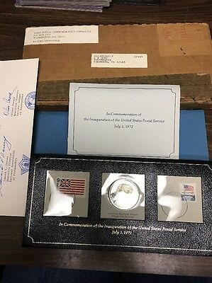 1971 Postal Commemorative With Sterling Proof Coin
