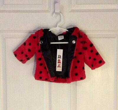 60% Off! New, Unique Ladybug Ultra Soft Baby Hoodie Coat, 3-6m