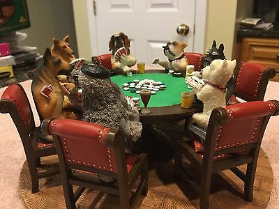 The POKER Playing Dogs A FRIENDLY GAME FIGURINE