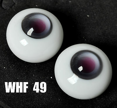 12MM Purple Pupil GreyIris Glass BJD Eyes for AOD DOD DZ Volks Barbie  Doll Luts